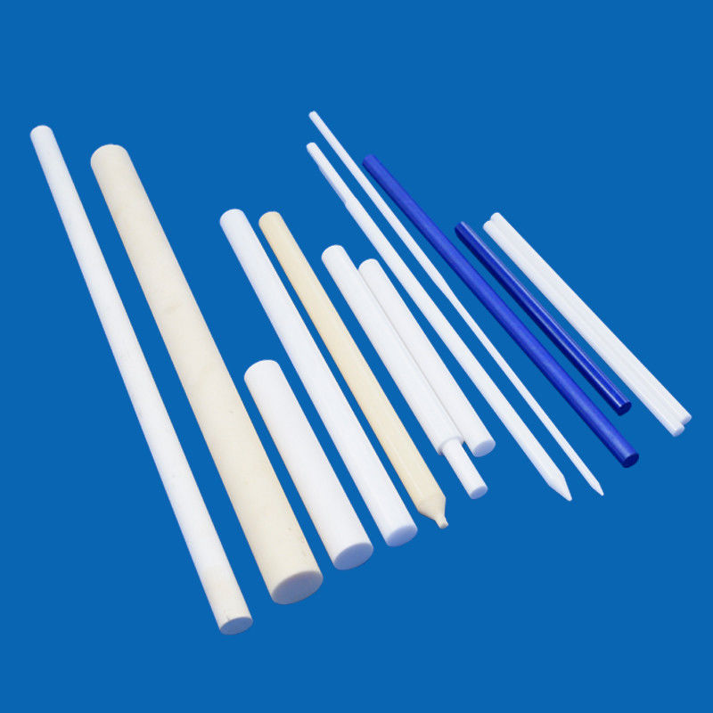 High Precision Machining Rod Parts Cnc Polishing Alumina Zirconia Silicon Ceramic Rod For Plunger Shaft Pins